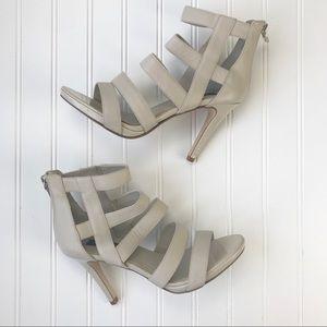 WHBM | Gladiator strappy platform heels | Size 8